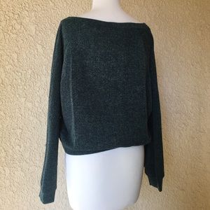 Band of Gypsies Sweaters - Band of Gypsies Forest Green Long Sleeve Sweater M